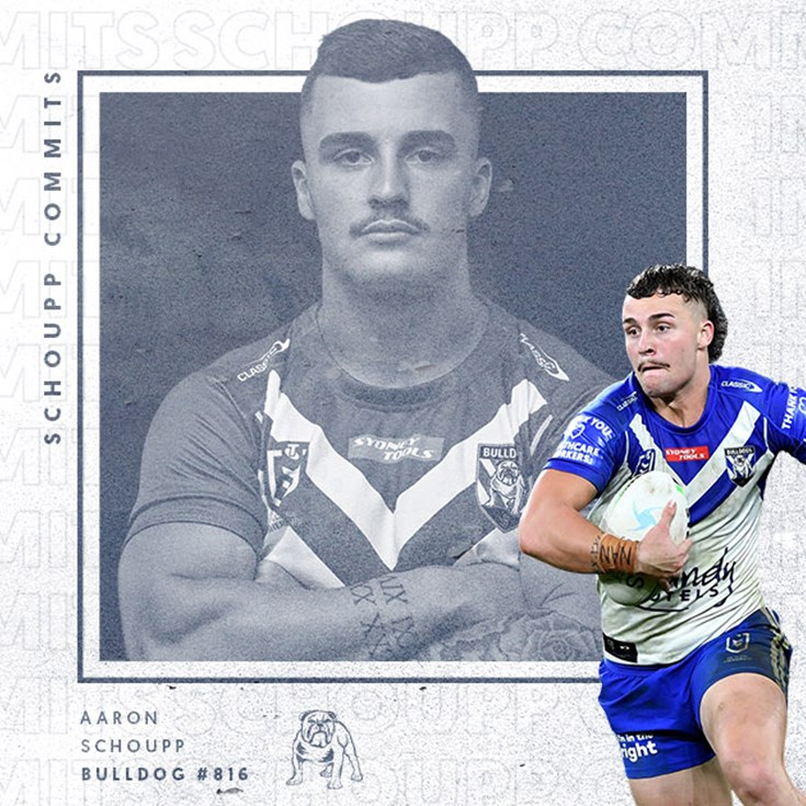 Aaron Schoupp re-signs with the Bulldogs