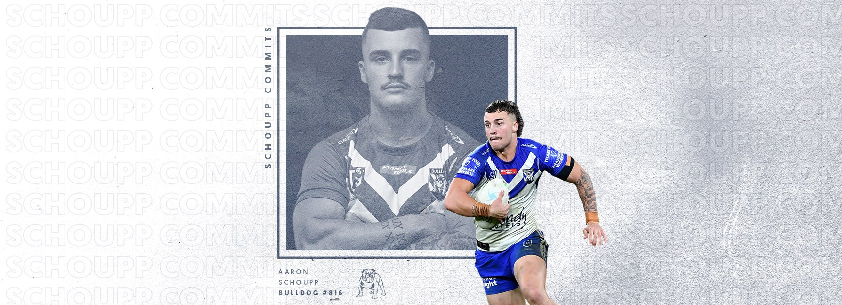 Aaron Schoupp re-signs with the Bulldogs for a further three years
