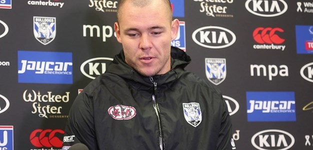 Dave Klemmer fronts the media ahead of clash against the Cronulla Sharks