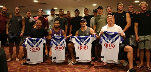 Inside debutants jersey presentation