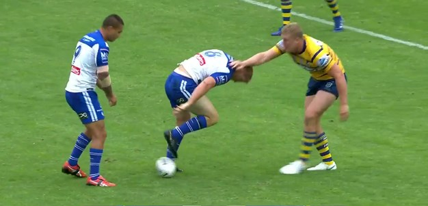 Napa's first try in Bulldogs colours