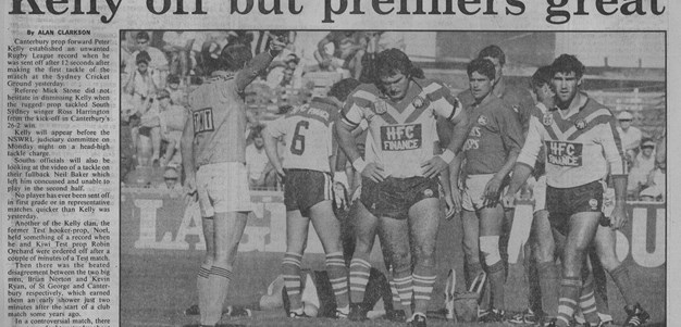 Phil Sigsworth relives Peter Kelly's 1986 send off