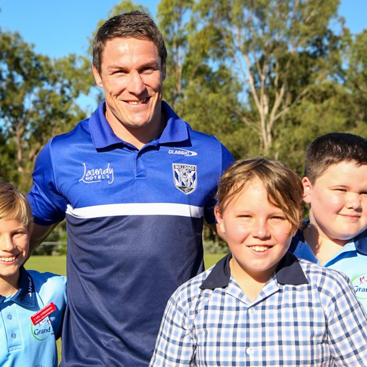 The Pack drops in for NRL Magic Round School Visits