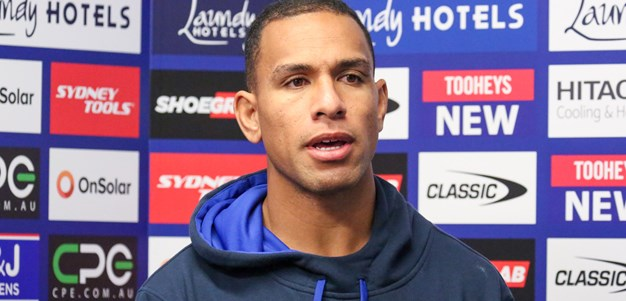 Will Hopoate Mid-Week Press Conference:Bulldog's Centre Will Hopoate spoke to the media ahead of Canterbury-Bankstown's Round 11 clash against the Gold Coast Titans at Cbus Super Stadium. Round 11 v Titans