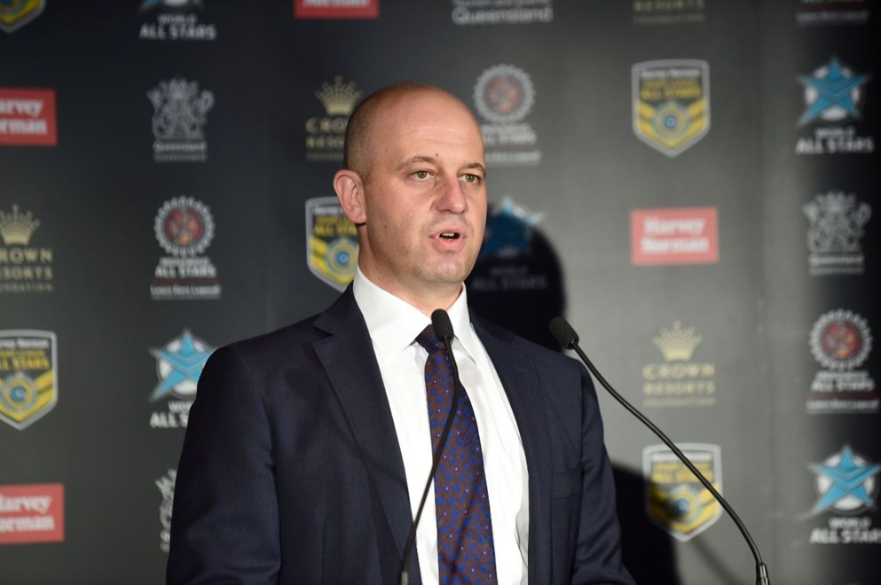 Todd Greenberg : Digital Image Scott Davis NRLphotos: NRL All Stars launch, held at the Queensland Performing Arts Centre (QPAC), Brisbane, Wednesday 04th November 2015