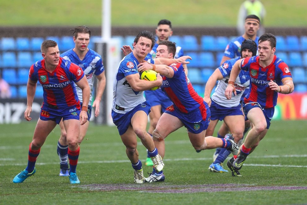 Competition - NYC Premiership Round. Round - Round 22. Teams - Newcastle Knights v Canterbury Bulldogs. Date - 6th of August 2016. Venue - Hunter Stadium, Broadmeadow, NSW. Photographer - Paul Barkley.