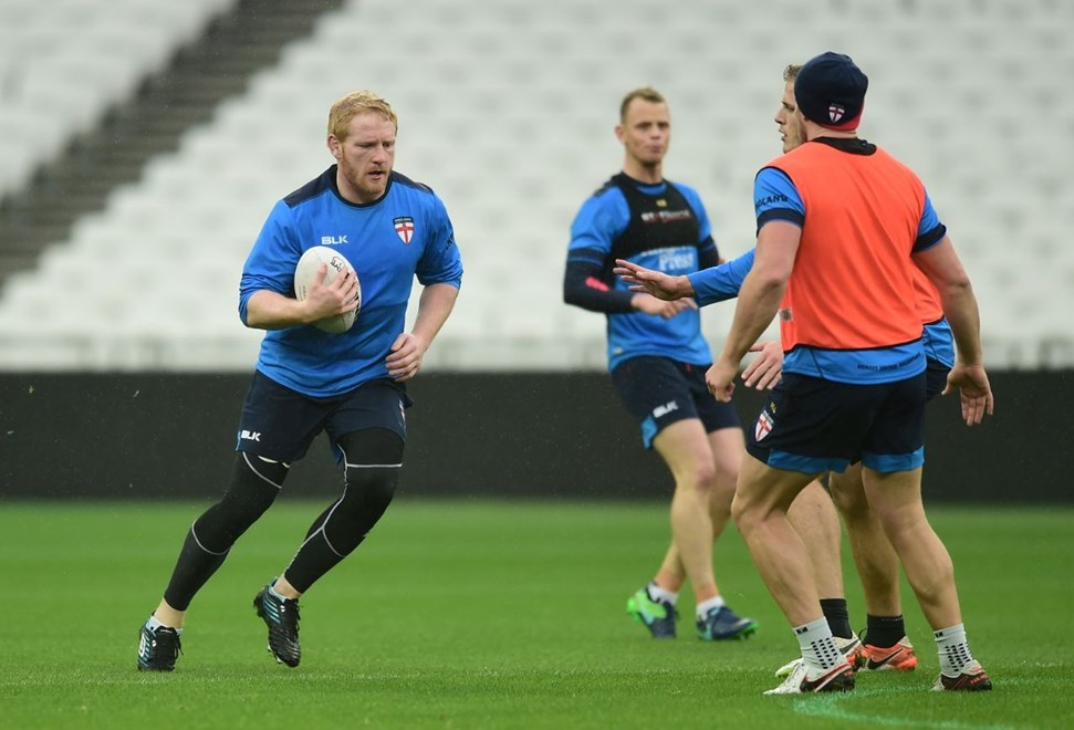 Picture by Alex Broadway/SWpix.com - 12/11/2016 - Rugby League - England Rugby League Captain's Run - London Stadium, London, England - James Graham of England.