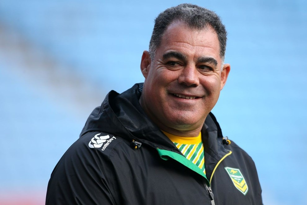 Picture by Alex Whitehead/SWpix.com - 04/11/16 - Rugby League - 2016 Ladbrokes Four Nations - Australia Captain's Run - Ricoh Arena, Coventry, England - Australia head coach Mal Meninga.