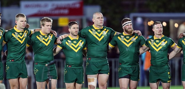 Kiwis hold on to stun Meninga's new-look Kangaroos