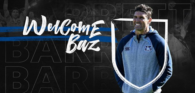 Trent Barrett to coach the Bulldogs for the next three seasons