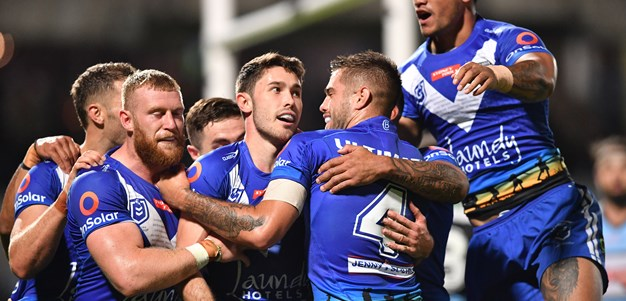 Bulldogs put bite on Sharks to snare first win of season