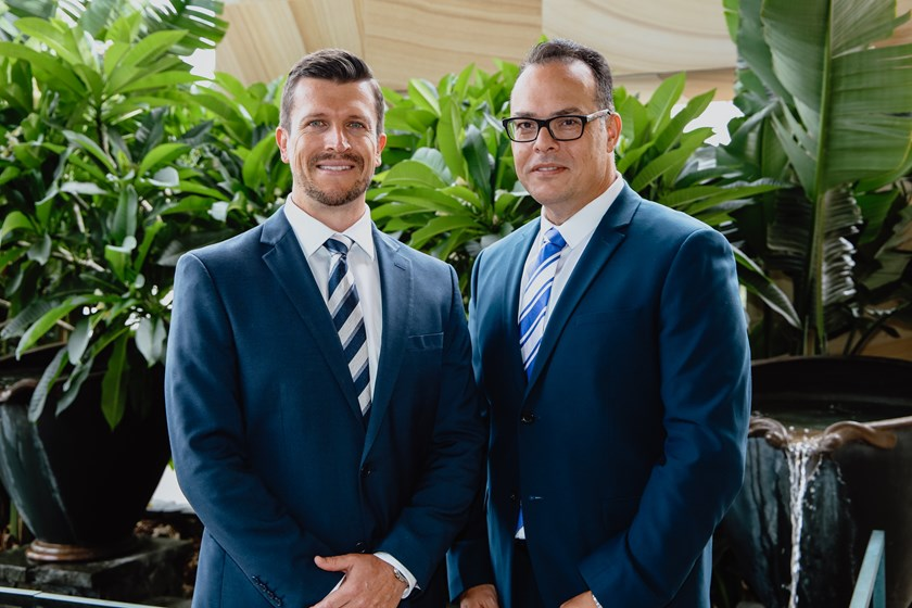 CEO Aaron Warburton alongside Chair John Khoury.