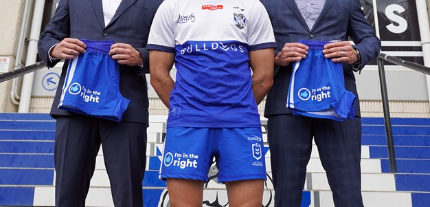 Bulldogs announce I'm In The Right as front of shorts sponsor